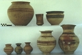 Khabur ware vessels from a chamber tomb
